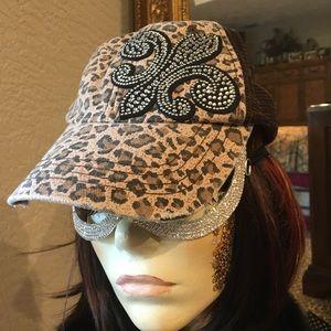 Leopard Bling Baseball Cap